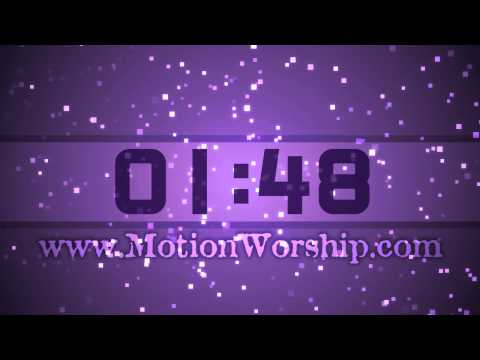 Purple Square Particles HD Worship Countdown