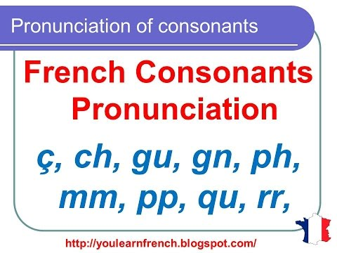 French Lesson 127 - Pronunciation of consonants in French - How to pronounce French words