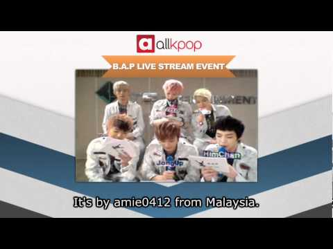 RELIVE IT: Exclusive B.A.P Live Stream on allkpop! [Part 1/5]