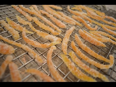 How to Make Candied Orange Peel Slivers: Cooking with Kimberly