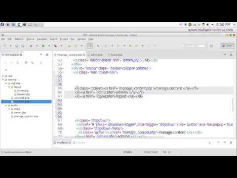 8   PHP & MySQL CMS manage pages & menu
