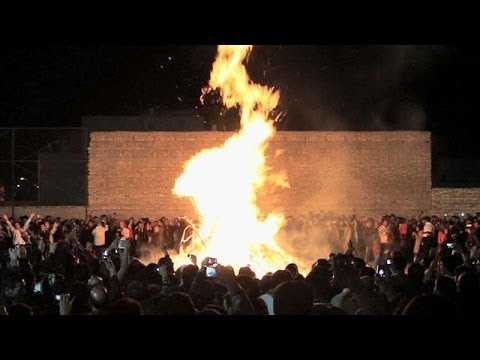 Zoroastrians Celebrate Fire Festival in (Iran)