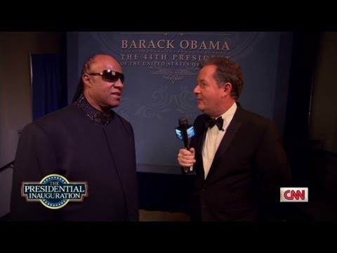 Stevie Wonder joins Piers Morgan to talk about Barack Obama,