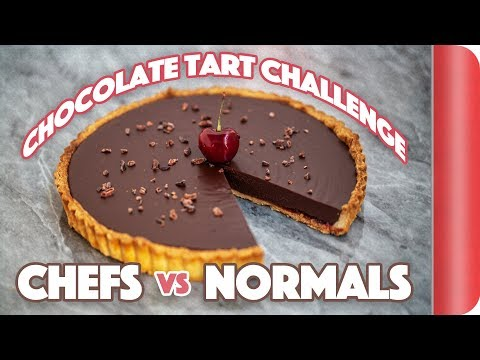 Making a Chocolate Tart WITHOUT the recipe! Chefs vs Normal Guys