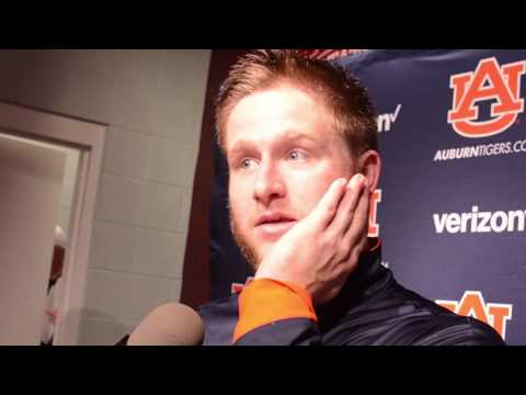 Auburn starting quarterback Sean White gives a postgame interview following Auburn's 38-14 win over Mississippi State.
