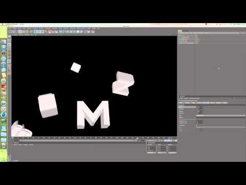 Tuto Cinema 4d- mouvement et explosion de texte