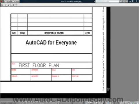 AutoCAD Plot Stamp Image 1