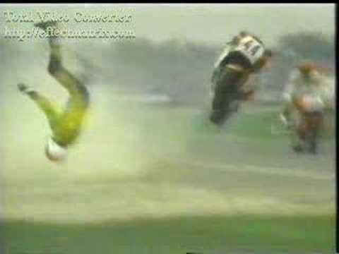 Superbike crash