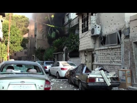 Syrian government militia pushes back rebels in Damascus