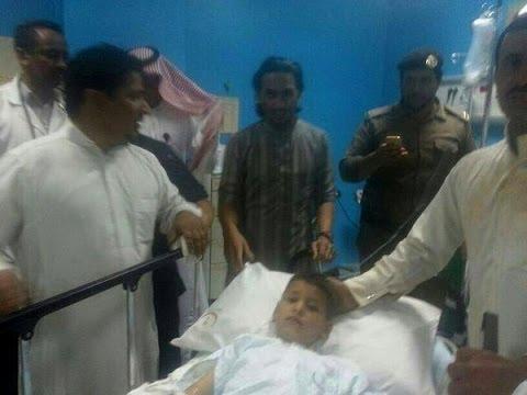 لحظة انتشال الطفل عبد الله الشراري (٥ سنوات ) في محافظة طبرجل بمنطقة