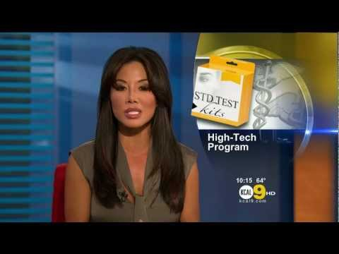 Sharon Tay 2011/09/19 10PM KCAL9 HD; Grey top
