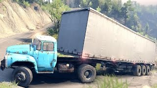 SPINTIRES 2014 - Truck + Trailer Uphill Driving Fail Part 2