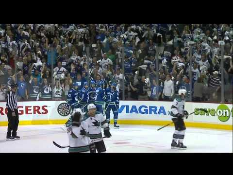 Daniel Sedin Goal - Canucks Vs Sharks - R3G2 2011 Playoffs - 05.18.11 - HD
