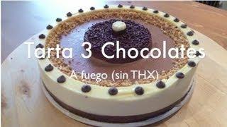 Como Hacer Tarta Tres Chocolates - Tradicional sin Thermomix