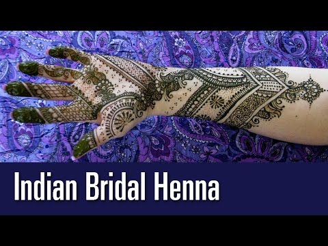 Indian Bridal Mehndi Henna Design - How to do Wedding Henna Tutorial - Design by Deepika Chauhan