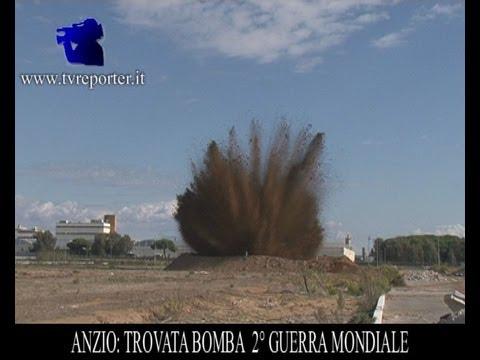 ESPLOSIONE BOMBA II GUERRA MONDIALE AD ANZIO