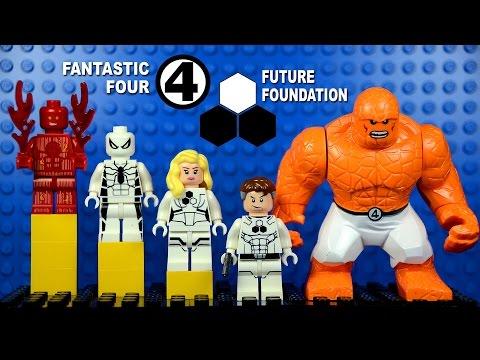 LEGO Future Foundation Fantastic Four Spiderman KnockOff Minifigures (Bootleg)