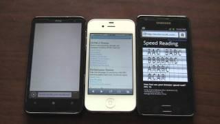 HTML5 Test: iPhone 4S vs. HD7 vs. Galaxy S2