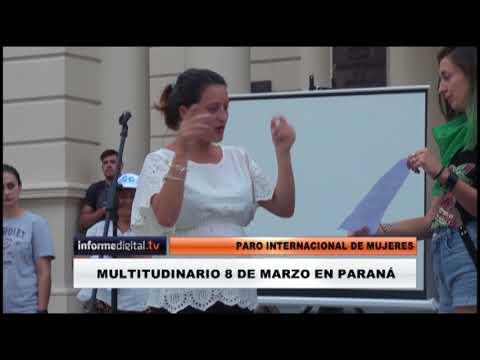 <b>Paro de mujeres.</b> Un 8M multitudinario en Paraná