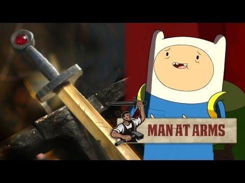 Forging Finn's Golden Sword (Adventure Time) - MAN AT ARMS