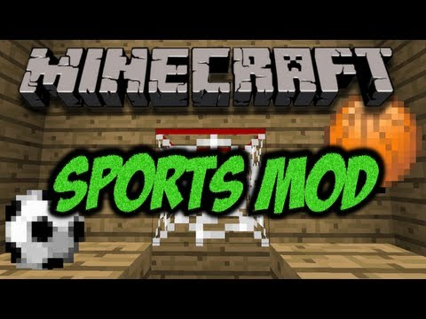 Minecraft Sports Mod (Soccer and Basketball Mod) (HD)