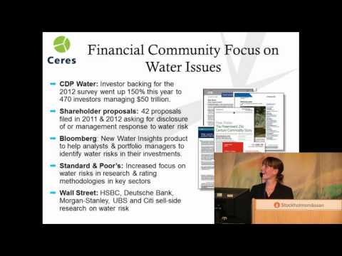 2012 World Water Week: A New Climate for Business: Seeking Profits in a Shifting Waterscape