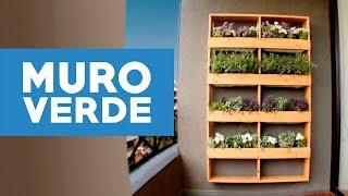 ¿Cómo hacer un muro verde para el jardín?