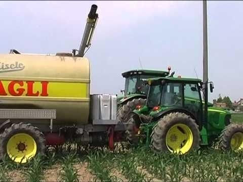 biogas:distribuzione digestato con coltura in atto. mais p1