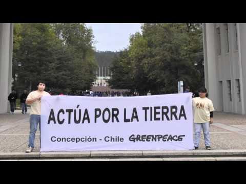 Voluntarios de Greenpeace en el mundo, para el Día de la Tierra