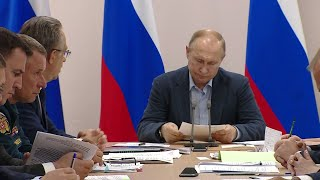 Путин раскритиковал ход работ по ликвидации последствий паводка в Иркутской области (20.07.2019 14:20)