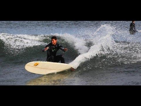 Surfing Santa Cruz -- Pleasure Point Surf --  Longboarding