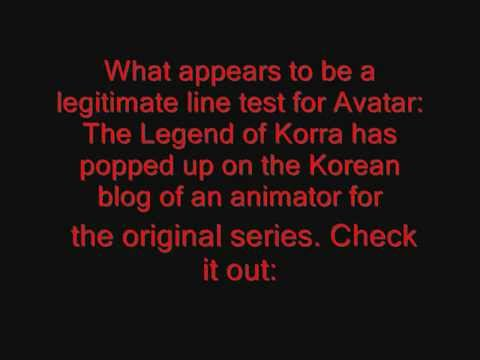 Avatar: Legend of Korra Update 8: Dante Basco &amp; Test Animation Leaked?