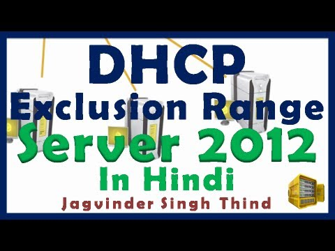 Windows Server 2012 DHCP Exclusion Range Configuration - Video 8
