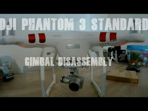 DJI phantom 3 standard gimbal disassembly for flex cable replacement
