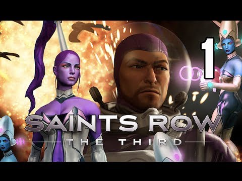 Saints Row 3 the Third - Gangstas in Space DLC Gameplay Walkthrough Part 1
