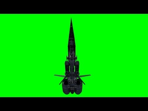 UFO Spaceship Battleship in fly over - green screen effects -pixCS5tCr7o