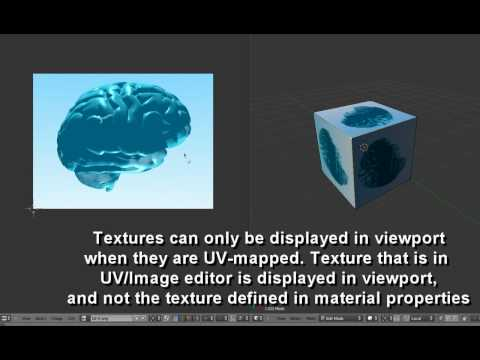 Blender 2.5 tutorial - how to get your textures to show up in viewport and render