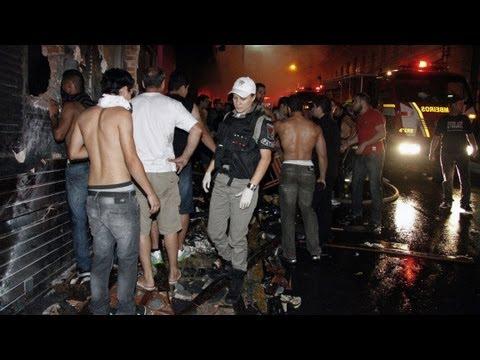 A deadly fire swept through a Brazil club, killing hundreds.