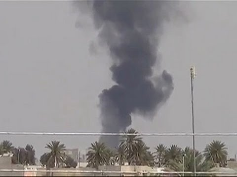 Raw: Jet Fires on Suspected Islamic State Group