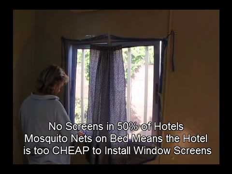 Stop Mosquitoes in Hotel Room by Installing Mosquito Net on Windows