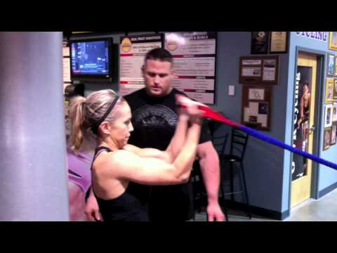 Women Fitness Training Workout For Triceps, Biceps and Chest