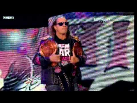 Bret Hart presents the New WWE Tag Team Championship Belts