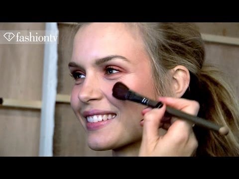 Jaeger Hair &amp Make Up Backstage - London Fashion Week Spring 2012 Fashiontv - Ftv