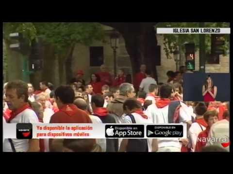 Procesión San Fermín 7 julio 2014 parte 2 lengua de signos