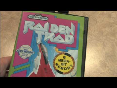 CGR Packaging Review: RAIDEN TRAD for Sega Genesis box and cartridge