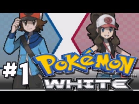 Let's Play Pokemon White -Part 1- HOW DO POKEMONZ?