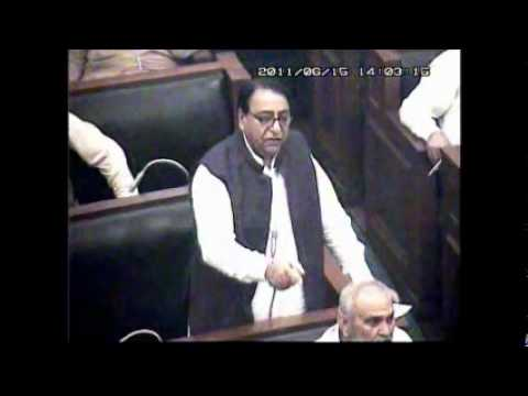 Part-01 Punjab Assembly, Pakistan Budget 2011 Urdu Speech by Rana Afzal Khan MPA