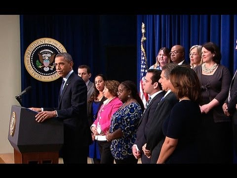 President Obama Makes a Statement on the Fiscal Cliff