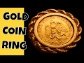 GOLD RING WITH INLAID 90% GOLD COIN FOUND METAL DETECTING! + SILVER, WHEATS & TOKENS!