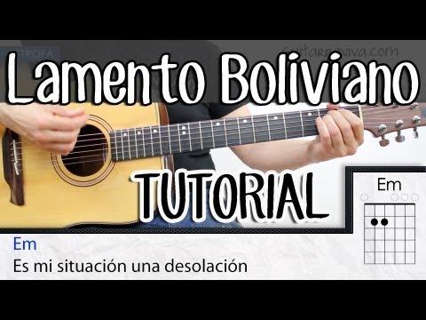 Lamento Boliviano Acordes en guitarra TUTORIAL Acordes y Ritmo SUPER FACIL! de Enanitos verdes